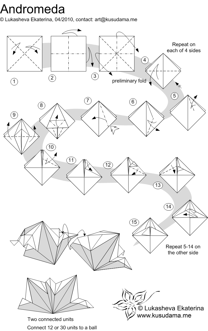 Fox Origami Diagram Wire Data Schema Advanced Instructions Kusudama Me Modular Andromeda Unit Body