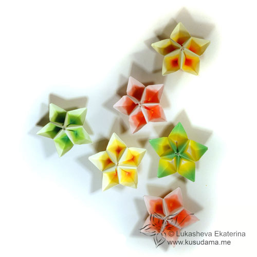 Kusudama me modular origami clematis unit carambola modular origami flowers mightylinksfo