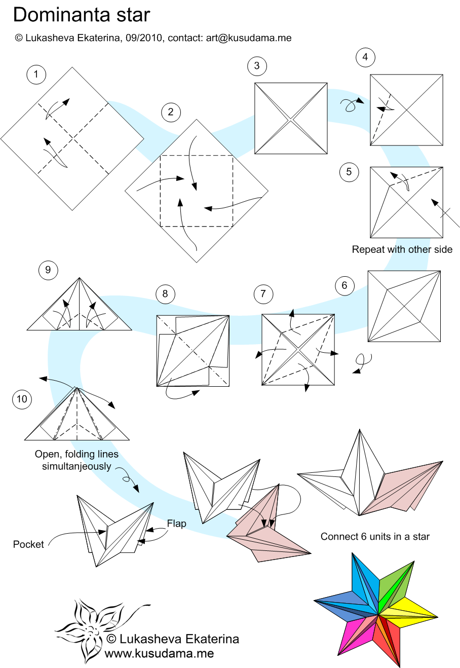Ninja Star Origami Instructions