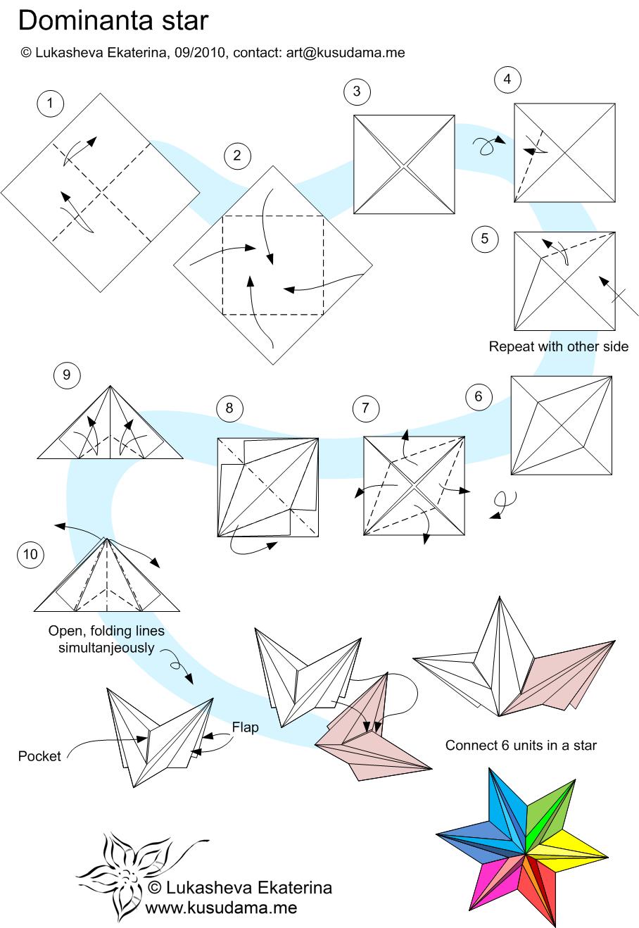 Поделки оригами на новый год своими руками