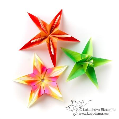 Kusudama me modular origami doublestar unit flowerstars mightylinksfo Images