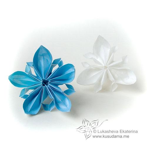 Kusudama me modular origami doublestar unit modular origami flower mightylinksfo Images