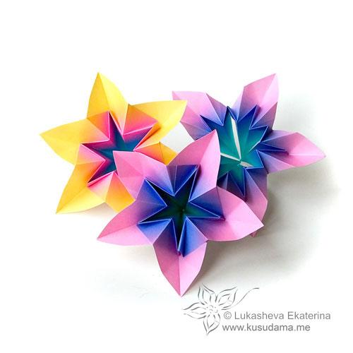 Kusudama me modular origami doublestar unit modular origami flower mightylinksfo