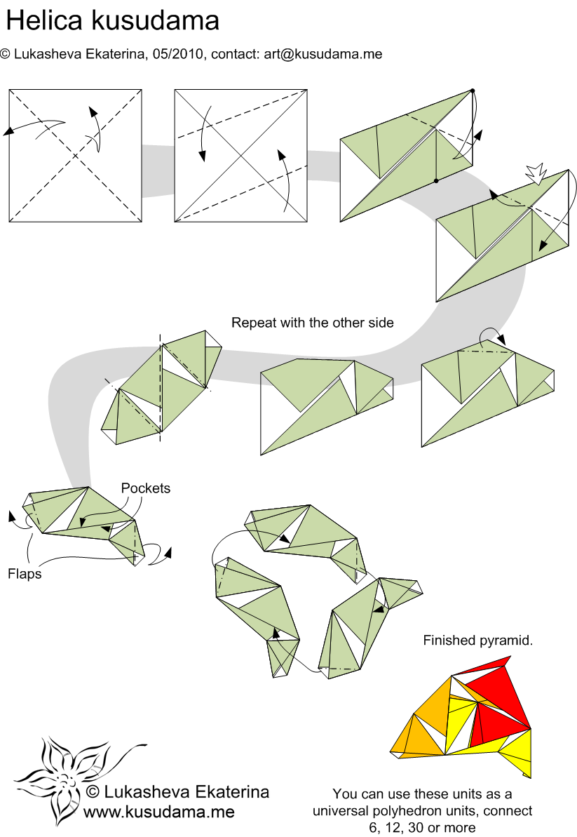 Diagram for Helica kusudama