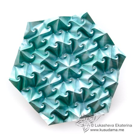 Kusudama Me! - Modular origami: Variaton of Spikes unit The lose ... | 450x450