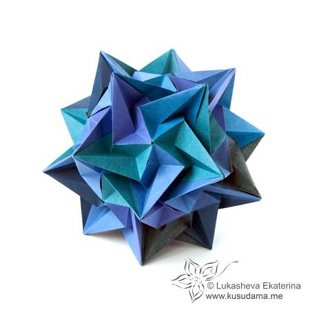 Kusudama Me Modular Origami Paradigma Unit