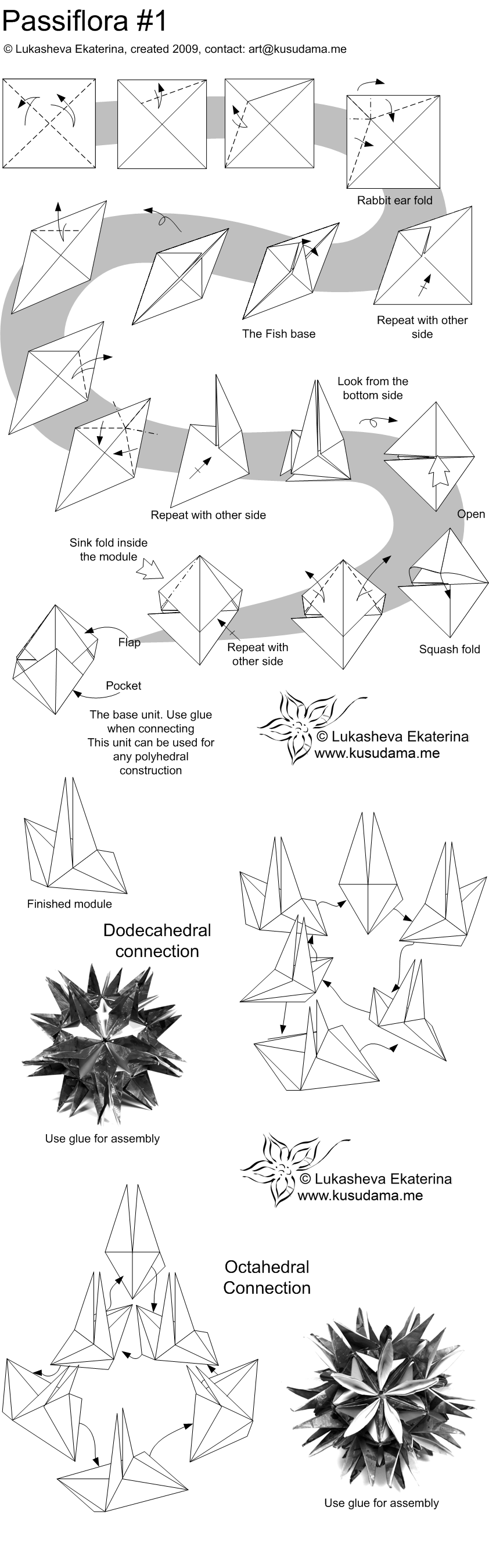 Diagram for Passiflora-curly kusudama