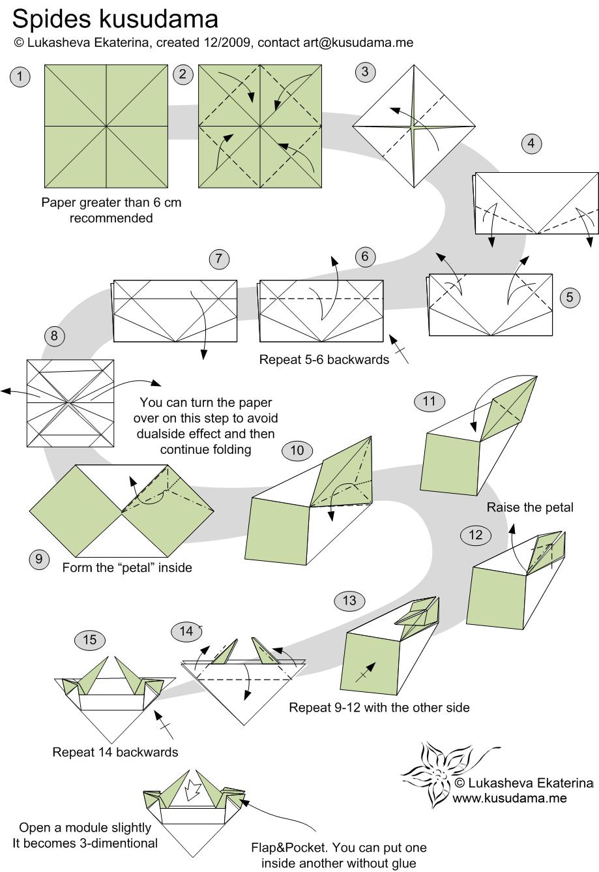 Origami+Donkey+Diagram Origami Kusudama Diagrams