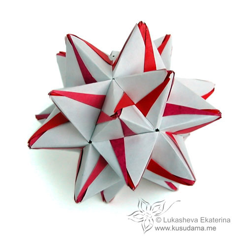 DIY Origami Ball - Christmas Star Ball - Ornament Stellated Icosahedron -  Modular Origami - YouTube | 500x500