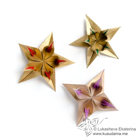 Kusudama me modular origami stars unit delicateflower mightylinksfo