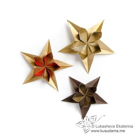 Kusudama me modular origami stars unit flowerstar mightylinksfo