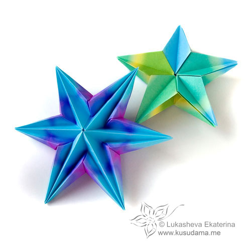 Labyrinth modular origami star