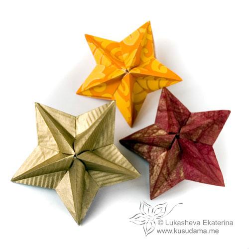 Origami Modular Star Instructions | Modulares origami, Origami ... | 500x500