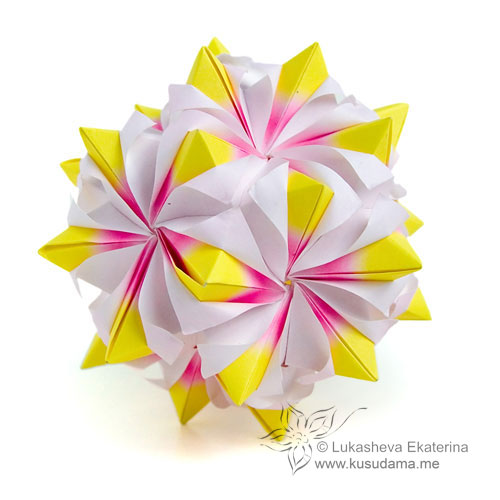 Kusudama Me Modular Origami Stellarhombica Unit