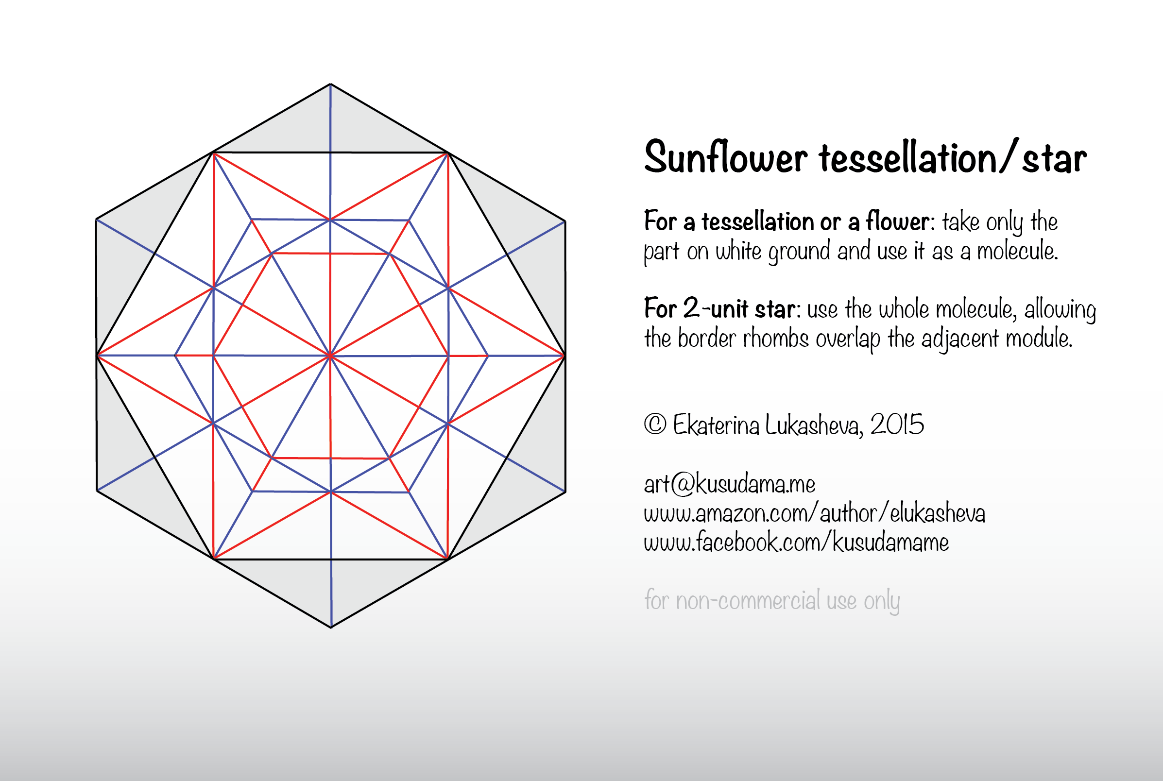 Diagram for Sunflower_star kusudama
