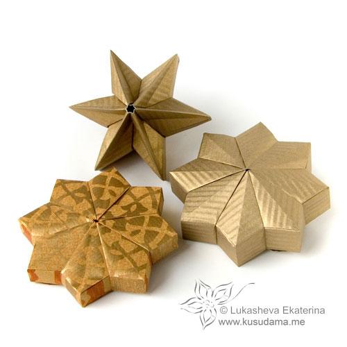 Leitstern kusudama Origami